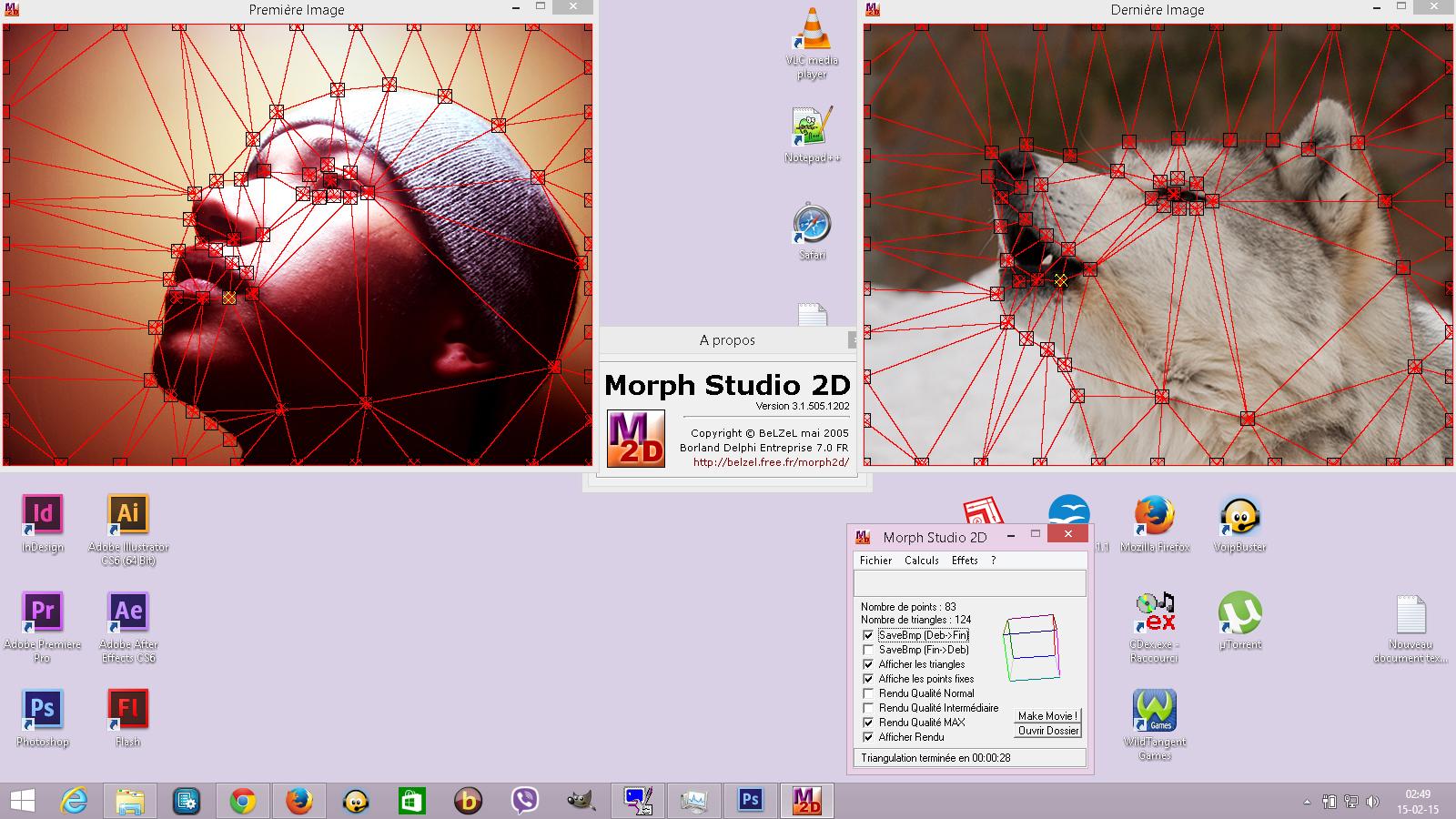 Morphing avec le logiciel Open Source « Morph Studio 2D »